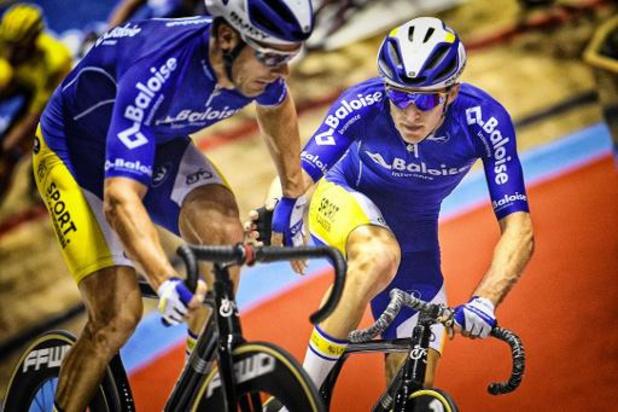 Six Jours de Rotterdam - Moreno De Pauw, 2e, Kenny De Ketele et Robbe Ghys 3e sur le podium