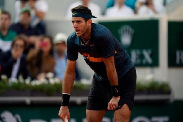 Australian Open - Knieblessure houdt Juan Martin del Potro uit Melbourne