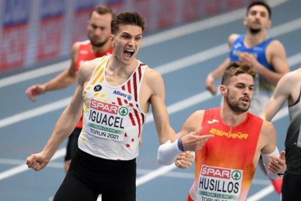 """Iguacel, le seul Belge en demi-finales du 400 messieurs: """"Je savais que c'était possible"""""""