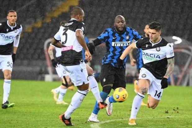 Belgen in het buitenland - Inter laat leidersplaats liggen uit bij Udinese