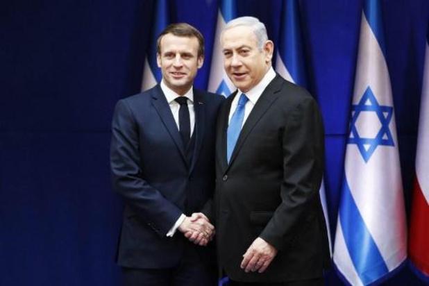 Macron vraagt Israël af te zien van annexatie Palestijnse gebieden
