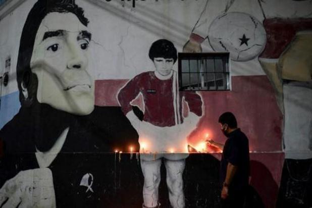 Kist van Maradona is overgebracht naar presidentieel paleis