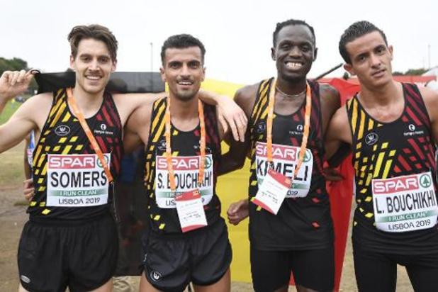 Euro de cross-country: Bouchikhi et Kimeli, 7e et 8e, permettent à la Belgique de terminer 2e par équipes
