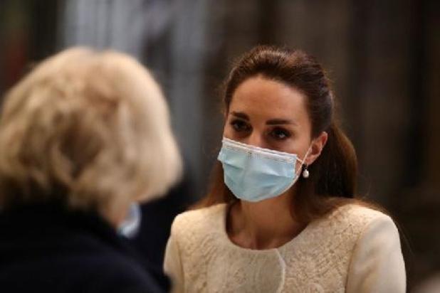 Royaume-Uni: cas contact, Kate Middleton doit s'isoler pendant dix jours