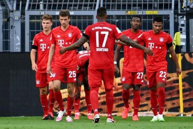 Le Bayern Munich bat le Borussia Dortmund et fait un pas vers un huitième sacre de rang