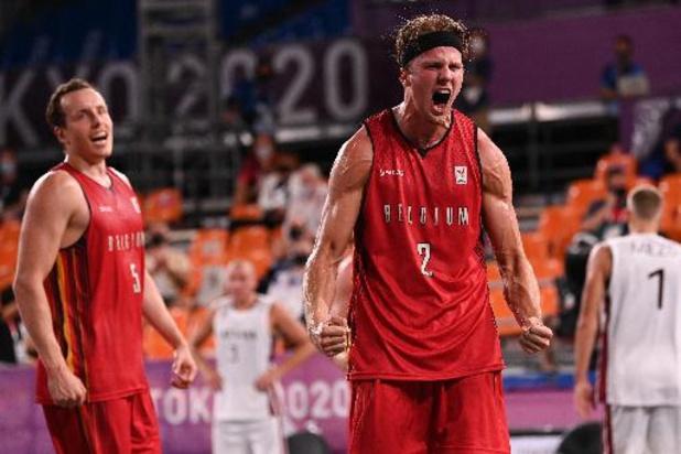 OS 2020: Belgische basketters 3x3 starten met 21-20 winst tegen Letland