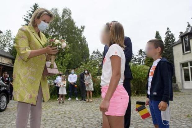 Koningin Mathilde op bezoek bij Waalse vereniging voor jeugdhulp