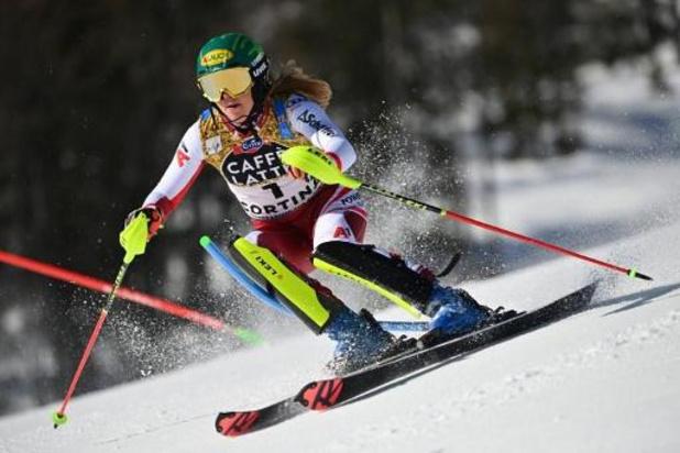 Championnats du monde de ski alpin - Katharina Liensberger domine la première manche, Kim Vanreusel 36e