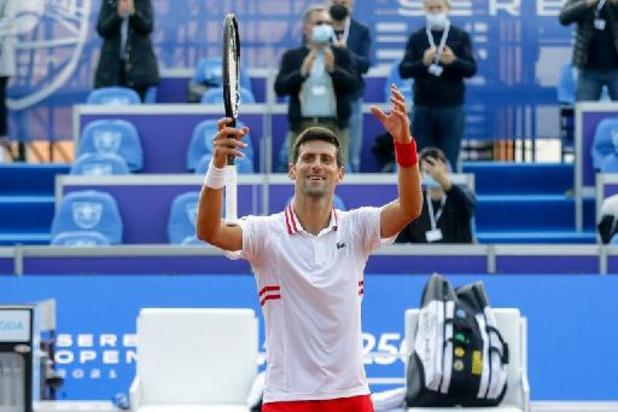 Novak Djokovic snelt in Belgrado naar winst
