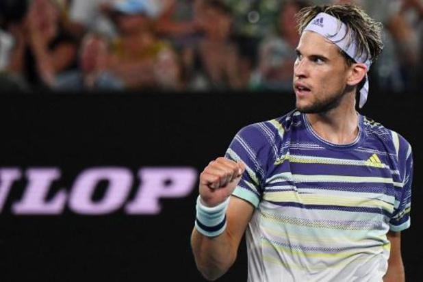 Dominic Thiem vient à bout de Rafael Nadal et se qualifie pour les demies à l'Open d'Australie