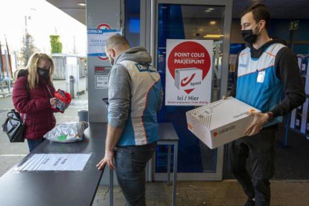 Bpost zal pakjes in afhaalpunten na vijf dagen aan huis leveren