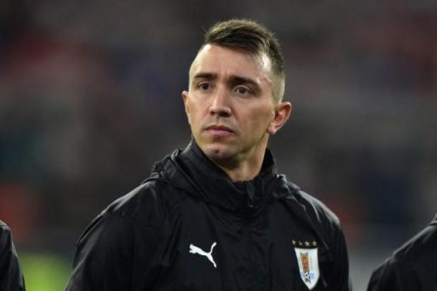 Le gardien uruguayen Fernando Muslera (Galatasaray) grièvement blessé à la jambe
