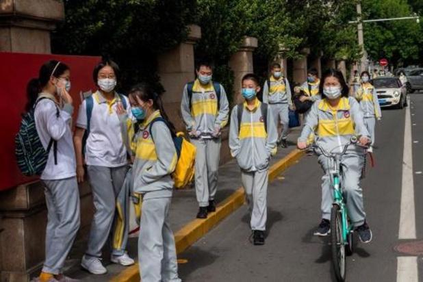 Chinese scholieren opnieuw naar school met armband die temperatuur checkt