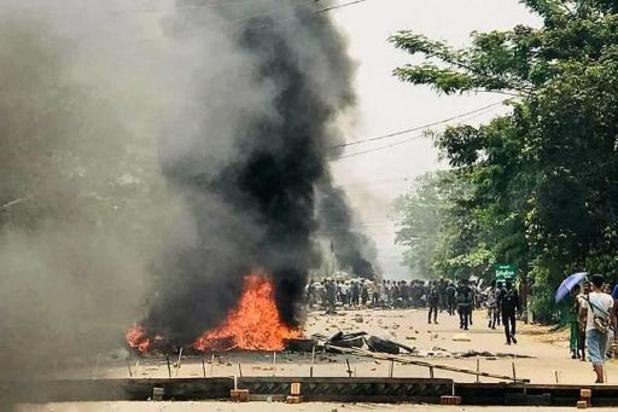 Betogers opnieuw op straat in Myanmar na bloedigste weekend sinds begin staatsgreep
