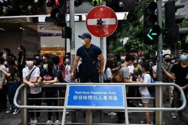 Veiligheidswet Hongkong - Politie Hongkong grijpt in bij betoging