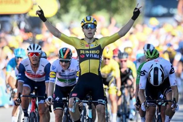 """Tour de France: Wout van Aert was """"heel trots"""" na overwinning"""