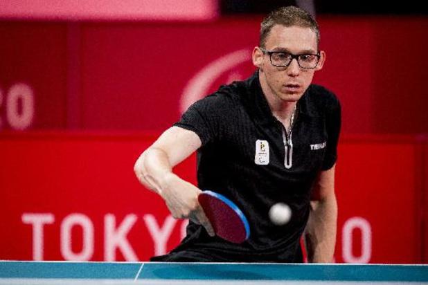 Bart Brands a pris un set à son adversaire, mais est éliminé du tournoi de tennis de table