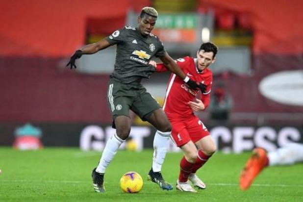 Les Belges à l'étranger - Liverpool et Manchester United se quittent sur un match nul et vierge