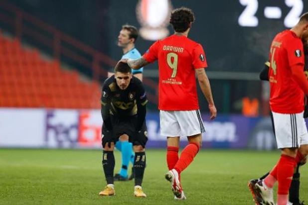 Europa League - Standard verlaat Europa met gelijkspel tegen Benfica