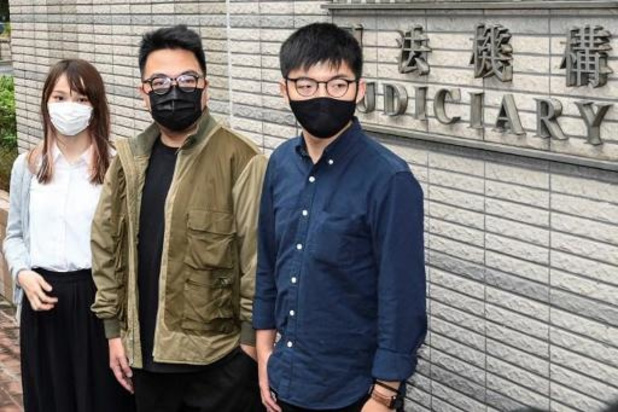 Hongkongse activist Wong en twee anderen veroordeeld tot celstraf