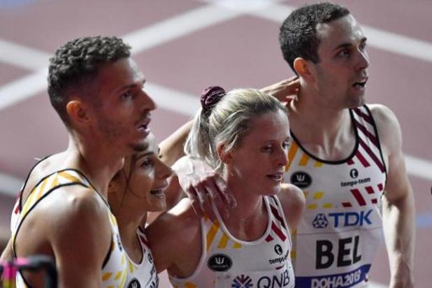 Mondiaux d'athlétisme - La Belgique 6e en finale du relais mixte 4X400m avec un record national, les Etats-Unis en or