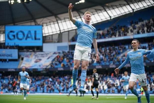 Premier League - Liverpool en Chelsea pakken laatste Champions League-tickets, De Bruyne scoort voor City