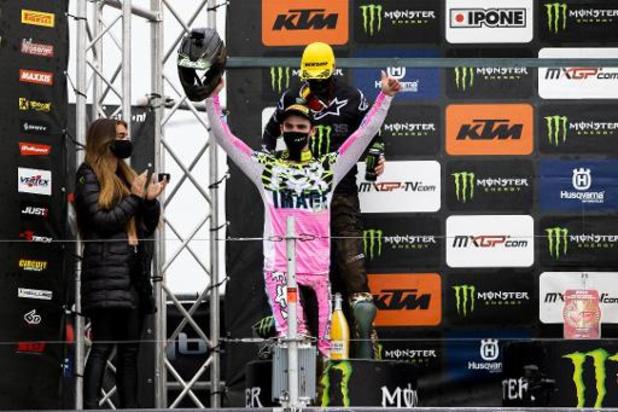Tim Gajser, champion du monde, gagne le Grand Prix de motocross, Jeremy Van Horebeek blessé