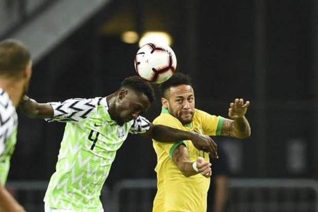 Brazilië kan ook niet winnen van Nigeria