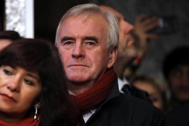 """Elections au Royaume-Uni - Le travailliste John McDonnell: """"nous devrons prendre les décisions appropriées"""""""