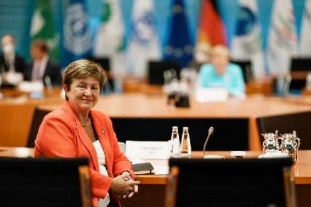 """IMF behoudt """"volle vertrouwen"""" in topvrouw Georgieva"""