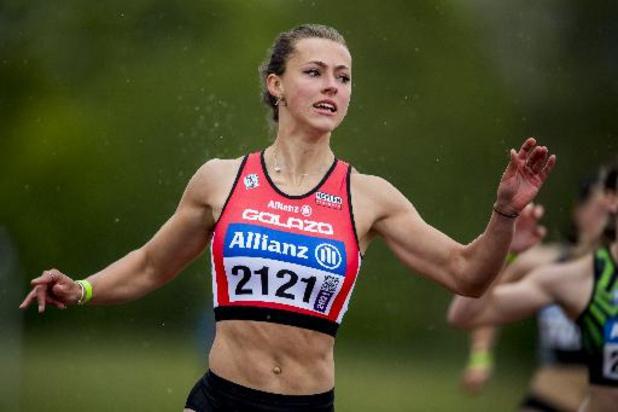 Rani Rosius is baas op 200 meter, maar blijft op 100 meter op vierde plaats steken