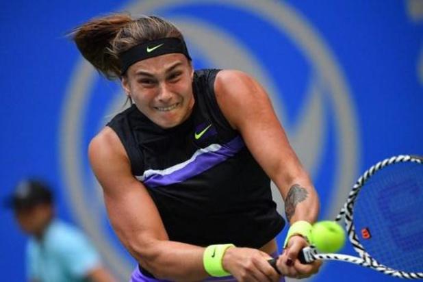 "WTA Elite Trophy - Sabalenka, qui a battu Mertens: ""J'ai eu un peu de réussite lors des derniers jeux"""