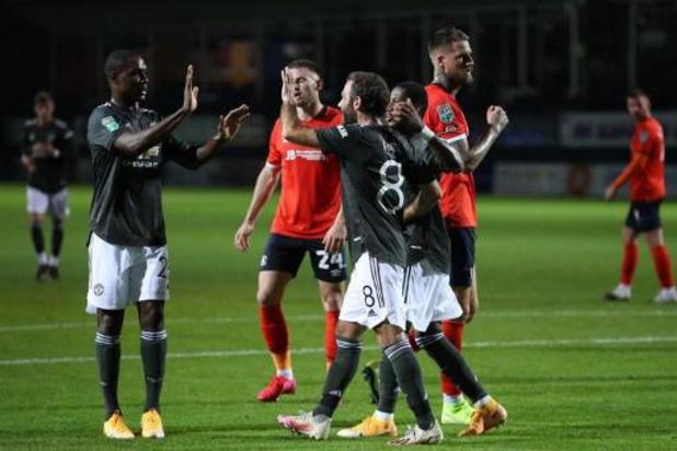 League Cup - Manchester United bereikt achtste finales
