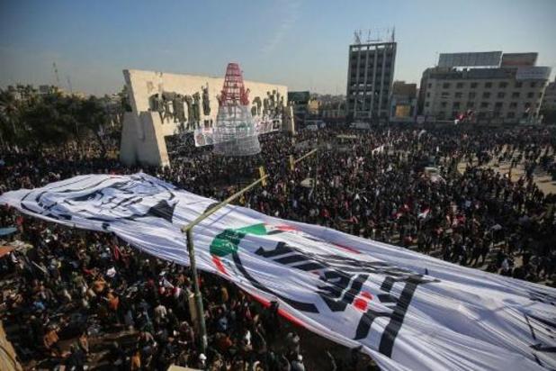 Massaal protest in Irak een jaar na Amerikaanse uitschakeling van Iraanse topgeneraal