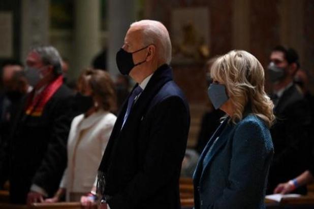 Nieuwe president woont mis bij samen met Republikeinse en Democratische leiders in Congres