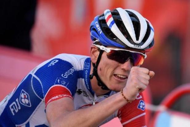 """Tour du Pays basque - """"La cerise sur le gâteau"""" pour David Gaudu, vainqueur de la dernière étape"""