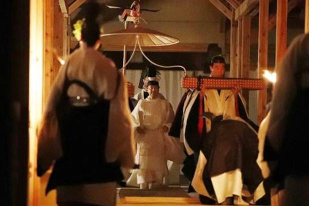 Japanse keizer voltooit nachtelijke ceremonie voor troonsopvolging