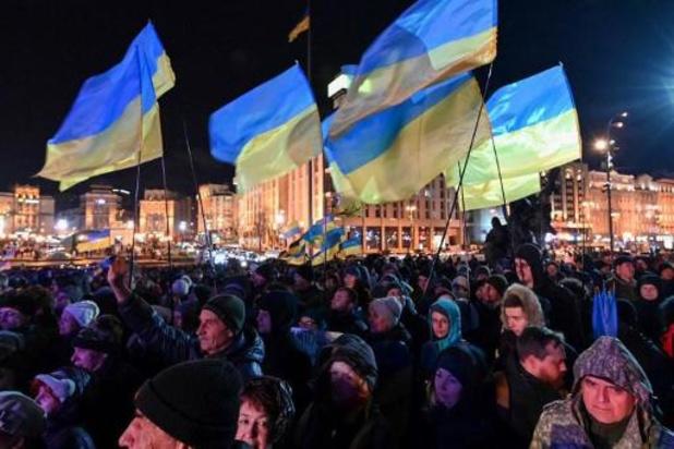 """Ukraine: des milliers de manifestants dénoncent une """"capitulation"""" face à la Russie"""