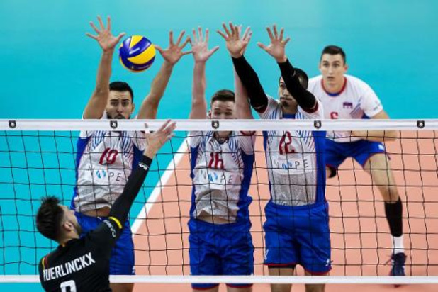Euro de volley (m) - La Belgique perd pour la première fois, contre la Serbie, et termine 2e de son groupe