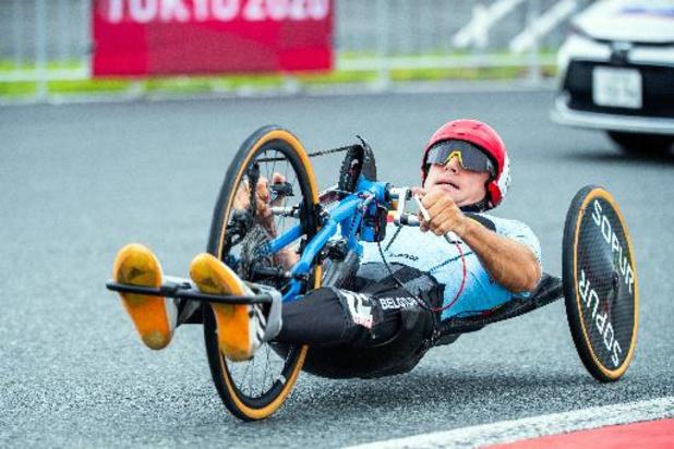 Handbiker Jonas Van de Steene grijpt in wegrit net naast podiumplaats op Paralympische Spelen
