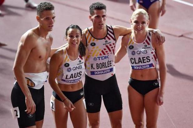 Mondiaux d'athlétisme - Le relais mixte belge 6e de la première finale de l'histoire, riche en records