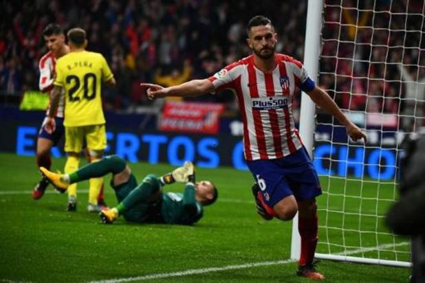 Les Belges à l'étranger - L'Atlético Madrid coule Villarreal et intègre le top-4