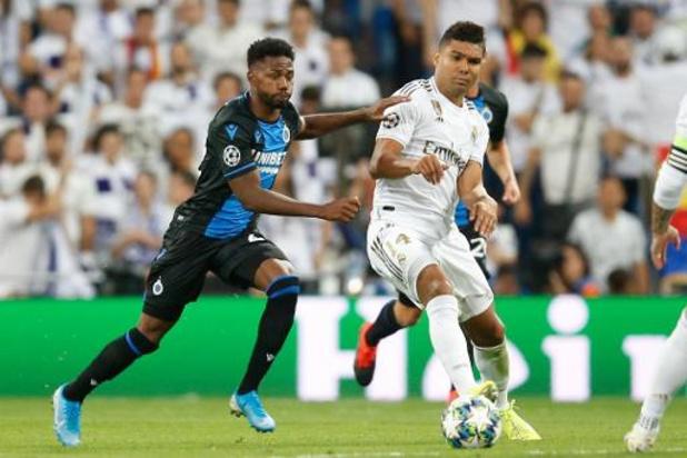 Ligue des Champions - Après avoir mené 0-2 au Real Madrid, Bruges partage (2-2), Courtois remplacé à la mi-temps