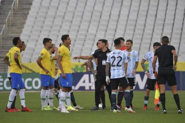 Brésil-Argentine suspendu: la Fifa promet une décision disciplinaire