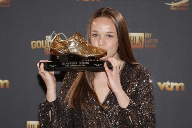 Soulier d'Or - Tine De Caigny ne s'attendait pas à remporter le Soulier d'Or