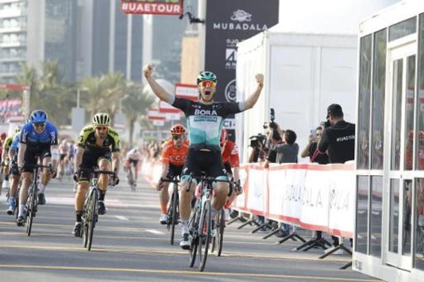 UAE Tour - Ackermann snelt naar zege in openingsetappe
