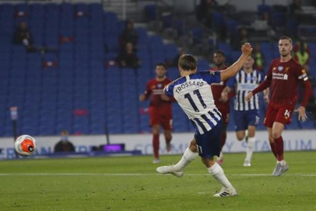 Les Belges à l'étranger - Brighton s'incline face à Liverpool malgré un but de Trossard