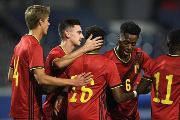 Euro U21 2021 - Qualifications - La Belgique s'offre un large succès face au Pays de Galles et conserve la tête du groupe 9