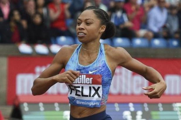 Sprintkoningin Allyson Felix (34) gaat door