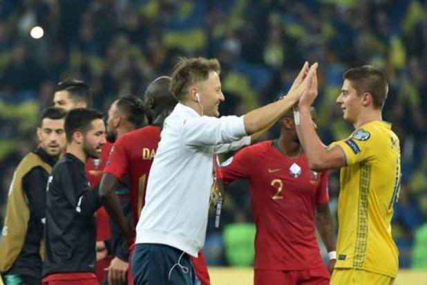 Kwal. EK 2020 - Oekraïne na 2-1 winst tegen Portugal zeker van WK-deelname, Ronaldo scoort 700e doelpunt